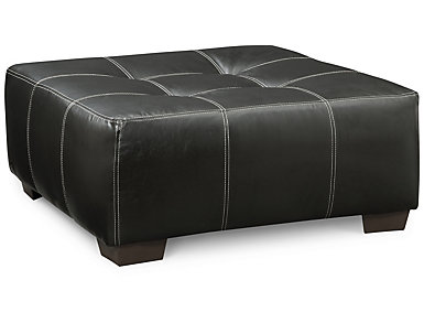 Idol Cocktail Ottoman, Black, , large