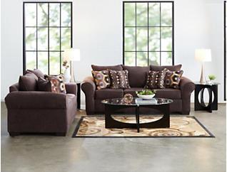 Felix Chocolate Sofa, Brown, large