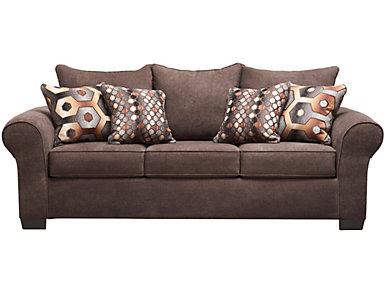 Felix Queen Sleeper Sofa, Chocolate, , large