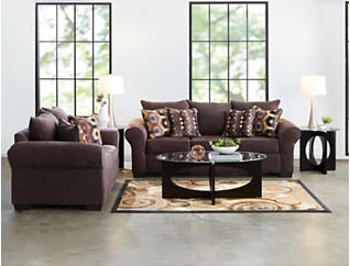Felix Chocolate Queen Sleeper Sofa, Brown, large