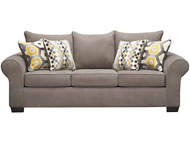 Felix Queen Sleeper Sofa, Platinum, , large
