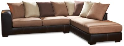 Idol 2 Piece Right-Arm Facing Sectional, Mocha, swatch