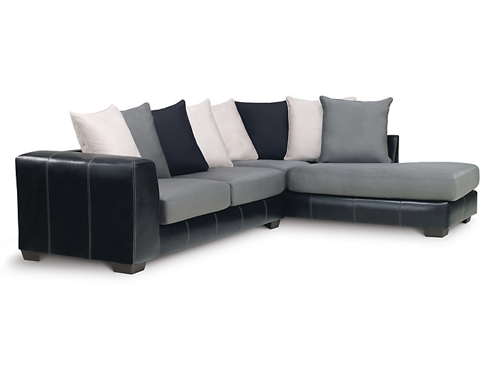 Idol 2 Piece Sectional, Steel, Steel, large