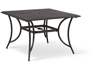 Manhattan Square Table, Brown, , large