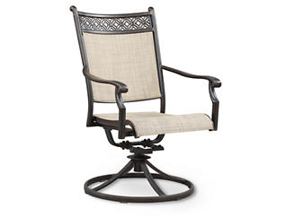Manhattan Sling Swivel Rocker, Beige, , large