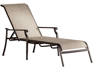 Manhattan Sling Chaise Lounge, Beige, , large