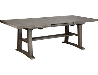Davenport Brown Extension Table, , large