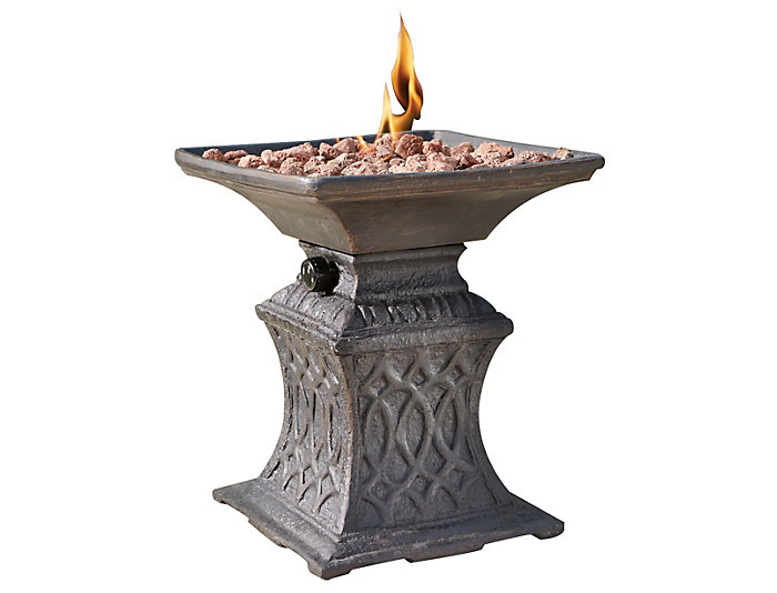 Stark Fire Urn with Lava Rock, , large