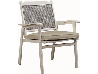 Lakehouse II Woven Back Dining, Beige, , large