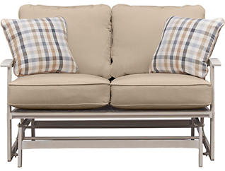Lakehouse II Loveseat Glider, Taupe, , large