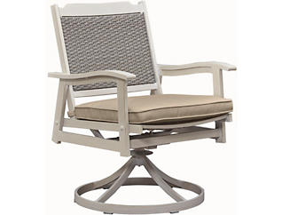 Lakehouse Woven Back Swivel, Beige, , large
