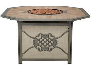 Melbourne Gas Firepit, Grey, , large