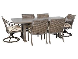 7 Piece Dining Extension Table, , large