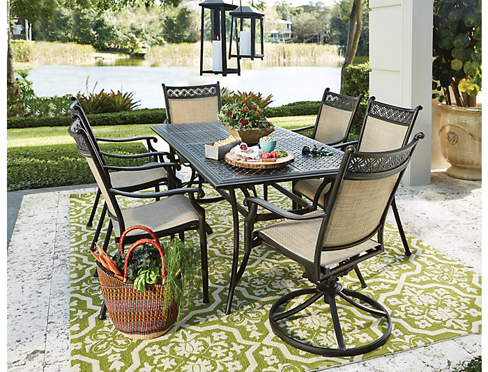 Manhattan 7pc Patio Dining Set, , large
