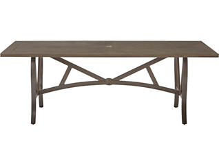 Trenton 42x80 Slat Top Table, Metal, , large