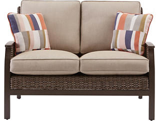 Trenton Loveseat, Beige, , large