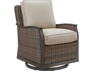 Trenton Swivel Lounge Chair, Taupe, , large