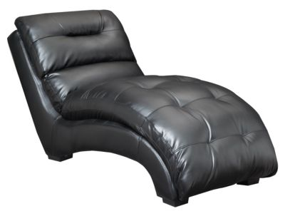 Venus II Chaise, Black, Black, swatch