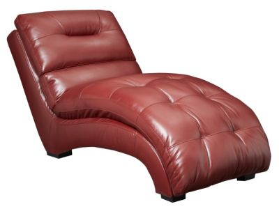 Venus II Chaise, Black, Red, swatch