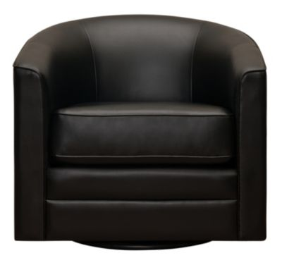 Milo II Swivel Accent Chair, Black, Black, swatch