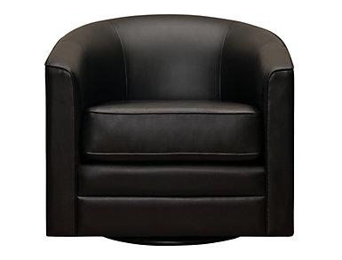 Milo II Swivel Chair, Black, large