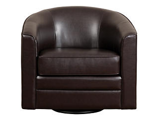 Milo II Swivel Chair, Brown, , large