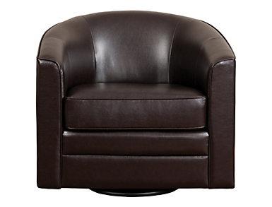 Milo II Swivel Chair, Brown, large