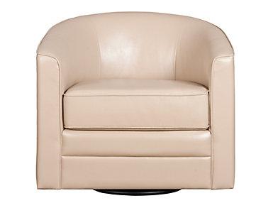 Milo II Swivel Chair, Cream, large