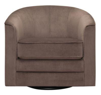 Milo II Swivel Accent Chair, Black, Grey, swatch