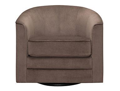 Milo II Granite Swivel Accent Chair, Granite, large