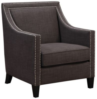 Lea Accent Chair, Natural, Charcoal, swatch