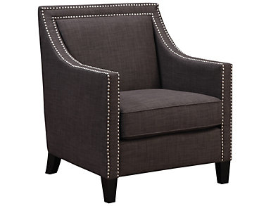 Lea Accent Chair, Natural, Charcoal, large