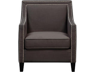 Lea Charcoal Accent Chair, Charcoal, large