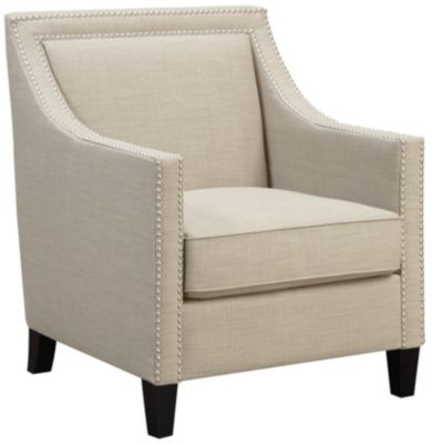 Lea Accent Chair, Beige, Beige, swatch