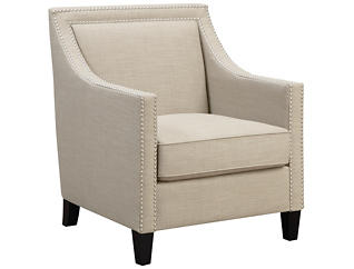 Lea Accent Chair, Beige, , large