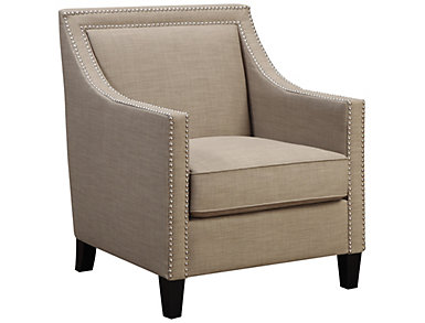 Lea Accent Chair, Natural, Pewter, large