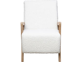 Enzo Cream Accent Chair, , large