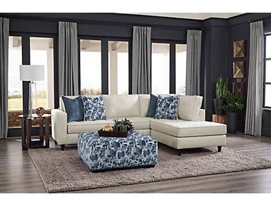 Vista Cotton 2 Piece Sectional, , large