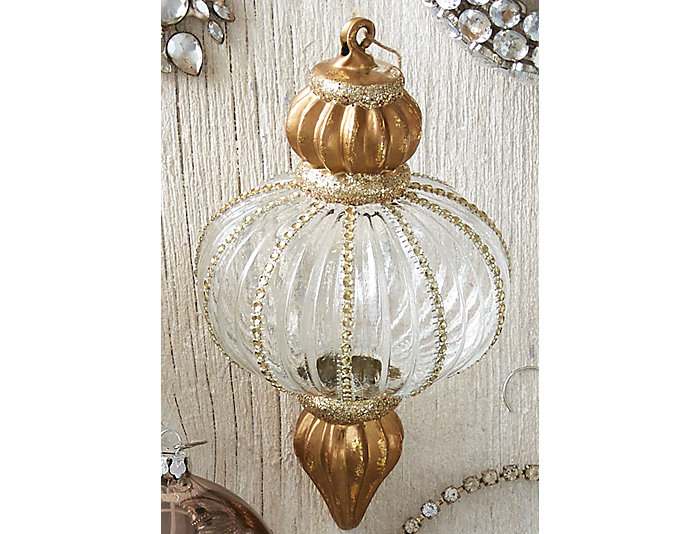 "8"" Glass Finial Ornament, , large"