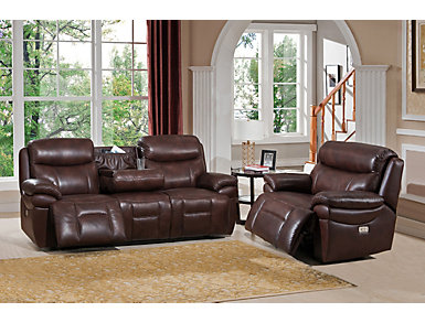 Summerland Dual Power Reclining Sofa & Recliner Set, , large