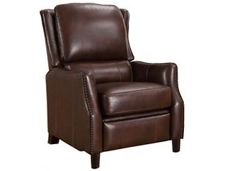 Decatur Leather Recliner, Brown, , large