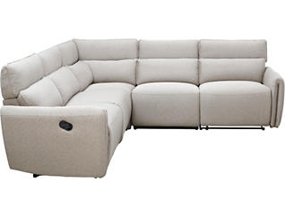 Forum Bark 5 Piece Reclining Sectional, , large
