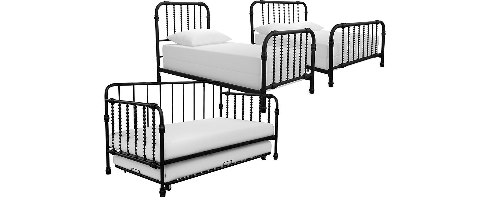 Wren Black Bed Collection, , large
