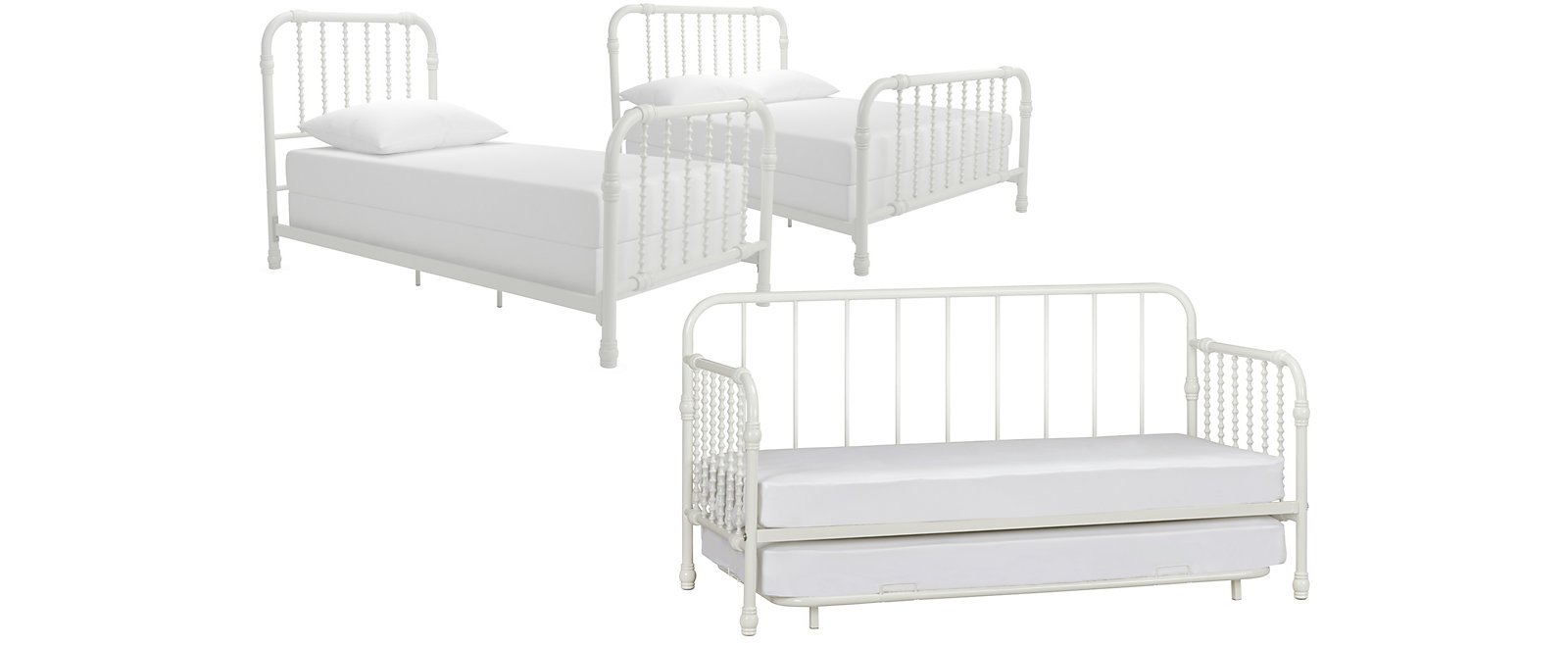 Wren White Bed Collection, , large