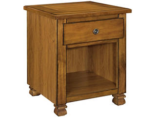 Leesa Tuscany Oak End Table, Brown, , large
