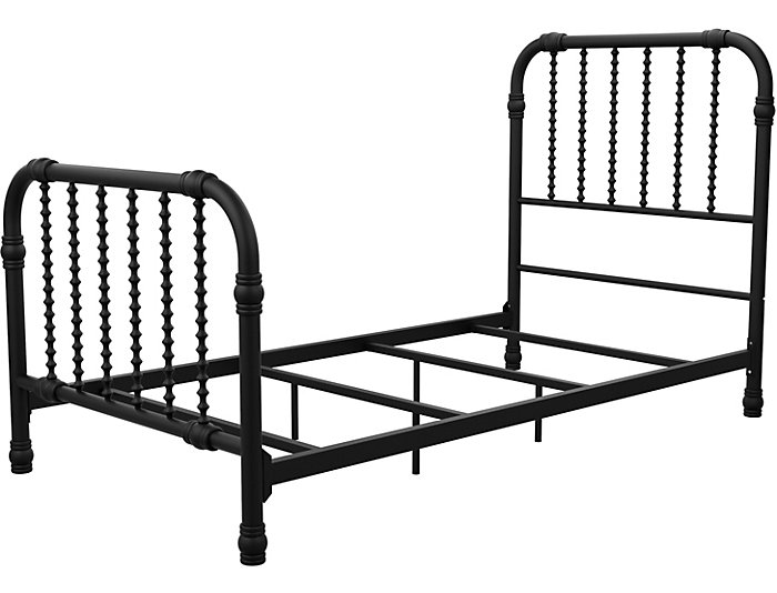 Wren Black Twin Bed, , large