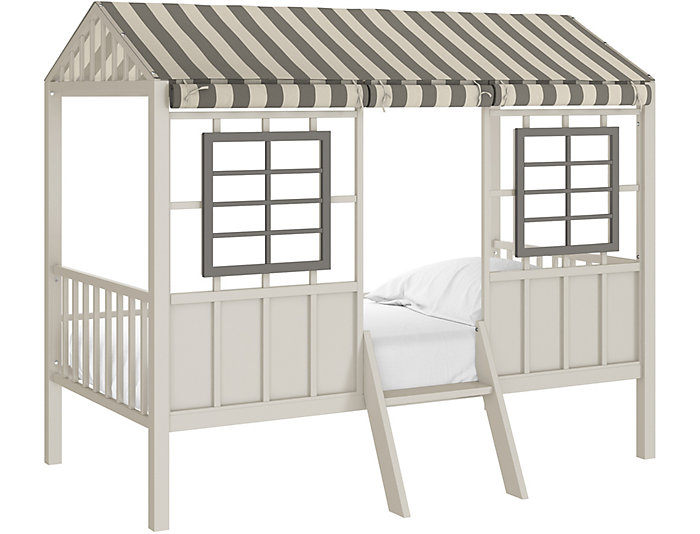 Forest Twin Grey Loft Bed, , large