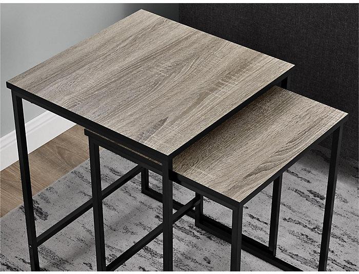 Lola Sonoma Oak Nesting Tables, Grey, , large