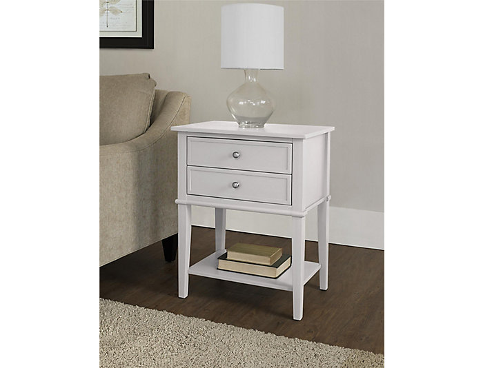 Franklin White Accent Table, , large
