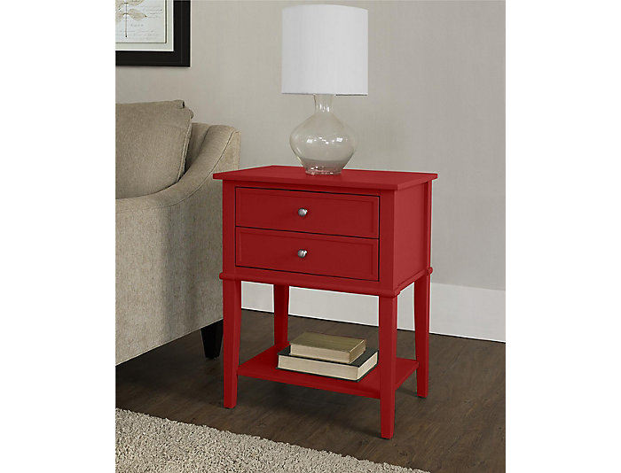 Franklin Red Accent Table, , large